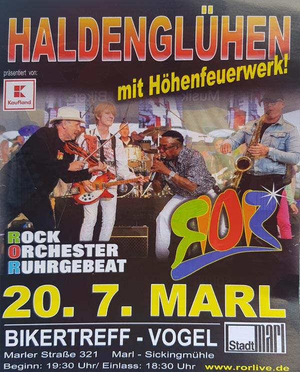 haldenglühen 2019 Live-Musik am Bikdertreff-Vogel