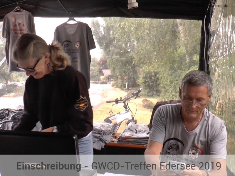 Einschreibung GWCD Goldwingtreffen Edersee 2019