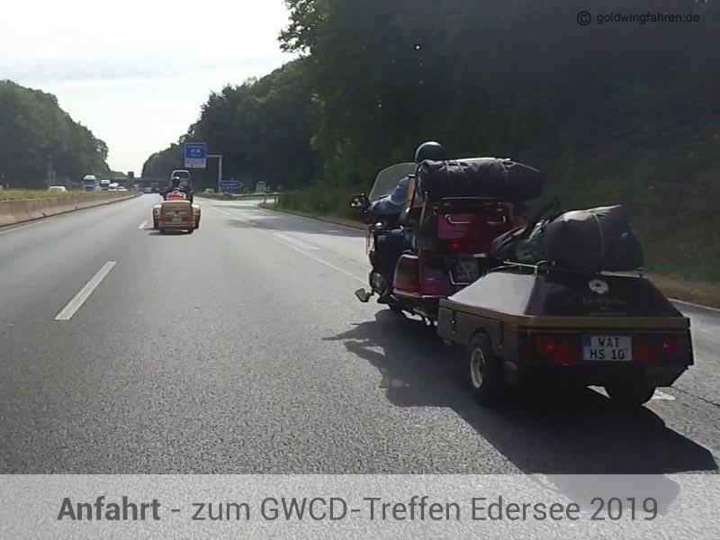 Anreise GWCD Goldwingtreffen am Edersee 2019