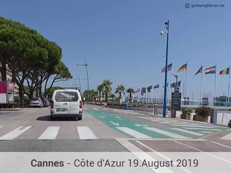 Mit der Goldwing eine Ausfahrt nach Cannes